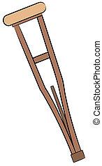 medical aid hospital crutch
