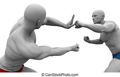 Self Defence or Self Defense Techniques in a Fight