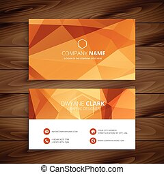 abstract orange business card