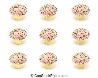 Cup Cakes - Freshly baked cup cakes with hundreds and...