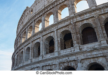 Coliseum. Famous place at Italy. In Rome