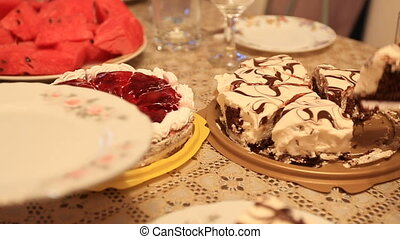 cakes on the table help yourself