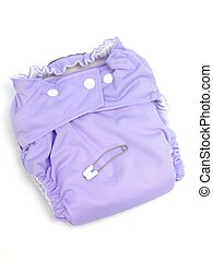 Cloth Nappy - A modern cloth nappy isolated against a white...