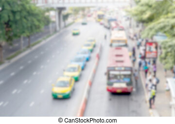 Blur traffic transportation background