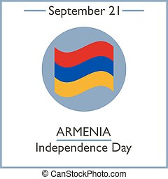 Armenia Independence Day, September 21. Vector illustration...