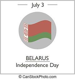 Belarus Independence Day, July 3. Vector illustration for...