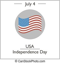USA Independence Day, July 4. Vector illustration for you...