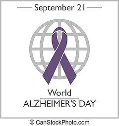 World Alzheimer's Day, September 21. Vector illustration for...