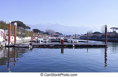 detail of harbour in forte dei marmi ,tuscany italy