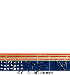 Grunge stars and stripes background - Editable vector...