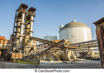 Sugar refinery - Poland. - Sugar refinery industrial -...