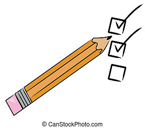 pencil checking off tasks on to do list -
