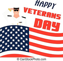 Veterans day background. - Veterans day poster. USA flag....