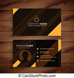 creative yellow stripes business card