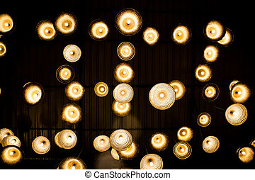 lights from the ceiling background