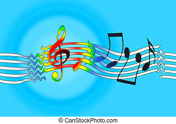 Joyful Music - Joyful music background with dancing musical...