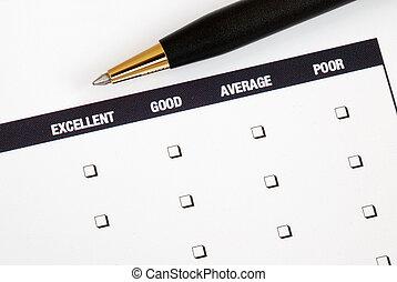 Customer fills in feedback survey