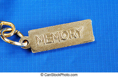 Dementia or lost memory - Keychain with the word Memory...