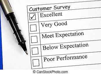 顧客, 充滿, 反饋, 調查