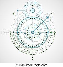 Vector engineering technological background, futuristic technical plan, mechanism. Mechanical scheme, abstract industrial design can be used as website background.