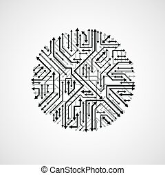 Technology communication cybernetic element with arrows....