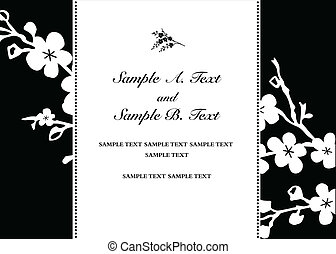Vector Blossom Sides Frame - Vector frame with sample text....
