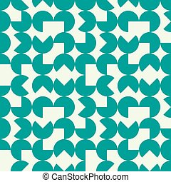Vector endless pattern composed with geometric shapes....