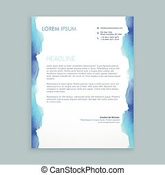letterhead design with blue ink