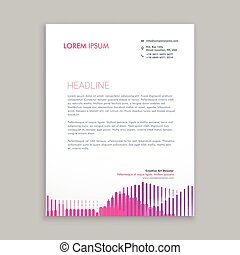 letterhead design with pink stripes
