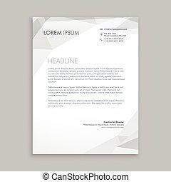 business letterhead card