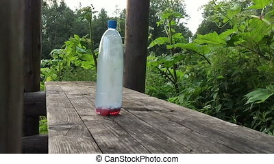 Plastic bottle explodes. DIY explosives
