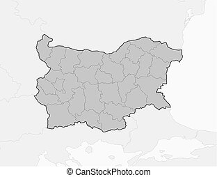 Map - Bulgaria - Map of Bulgaria and nearby countries,...