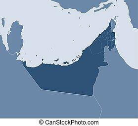 Map - United Arab Emirates - Map of United Arab Emirates and...