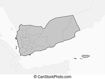 Map - Yemen - Map of Yemen and nearby countries, Yemen is...