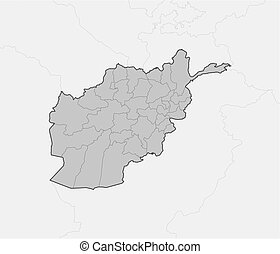 Map - Afghanistan - Map of Afghanistan and nearby countries,...