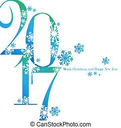 Sfondo nuovo anno 2017 con augurio