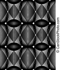 Ornate vector monochrome abstract background with...
