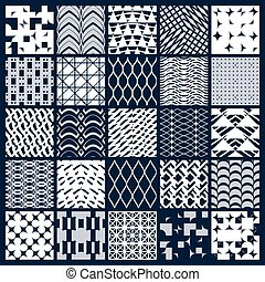 Collection of vector abstract seamless compositions,...