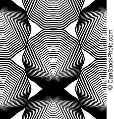Black and white vector ornamental pattern, seamless art...