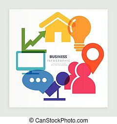 business colorful icons