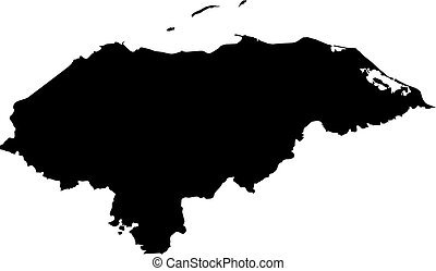 Map - Honduras - Map of Honduras in black.