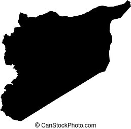 Map - Syria - Map of Syria in black.