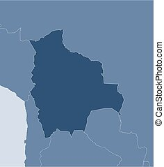 Map - Bolivia - Map of Bolivia and nearby countries, Bolivia...