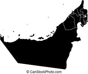 Map - United Arab Emirates - Map of United Arab Emirates in...