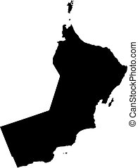 Map - Oman - Map of Oman in black.