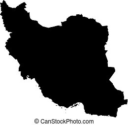 Map - Iran - Map of Iran in black.
