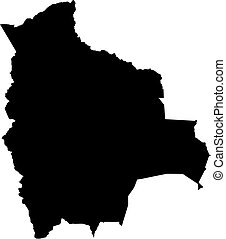 Map - Bolivia - Map of Bolivia in black.