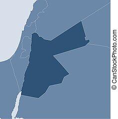 Map - Jordan - Map of Jordan and nearby countries, Jordan is...