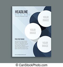 abstract business brochure page layout