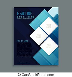 blue business brochure presentation template